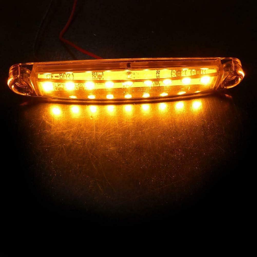 OHOUO 10pcs 24v 9 leds long feux orange lat/éraux abs imperm/éables camion marqueur de signal