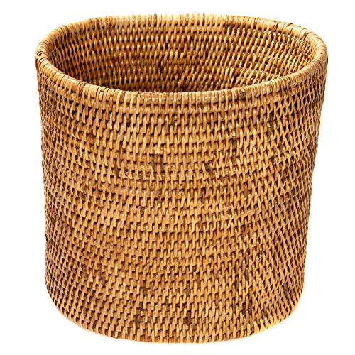 Baskets Weave Rattan - Artifacts Trading Company Artifacts Rattan Waste Basket, Honey Brown