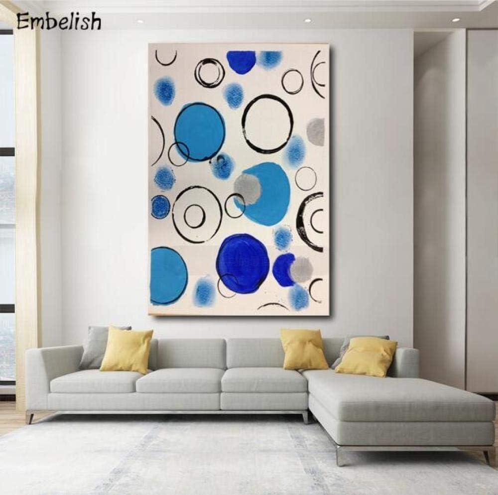 ZNuQP Pintura al óleo Abstracta wemelish kassily Kandinsky Cuadros modulares de decoración Moderna para el hogar pósteres de Lienzo HD para la Pared para la Sala de estar-40x60cm -Sin Marco