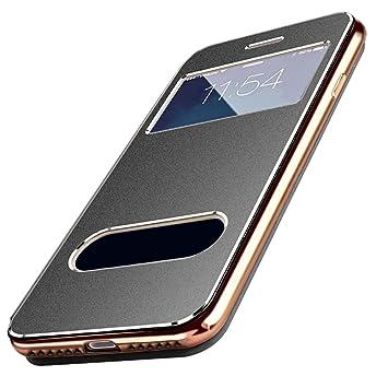 1af38a1e7c Amazon   【E-HOME】 iphone8ケース 手帳型 / iPhone7 手帳型ケース ...