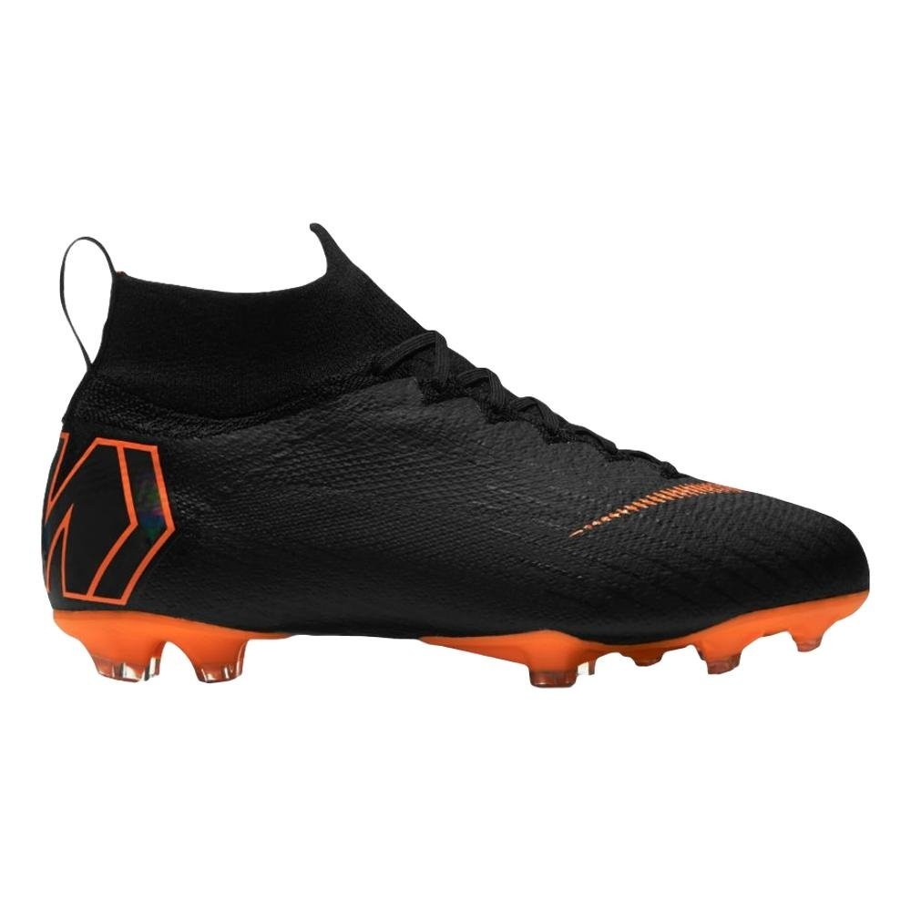 NIKE Junior Mercurial Superfly 360 Elite FG Cleats [Black] (5Y)
