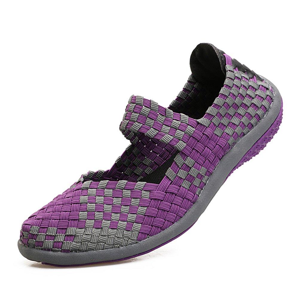 YMY Women's Woven Sneakers Casual Lightweight Sneakers - Breathable Running Shoes B07DXV2L6N EU39/US B(M) 8.5 Women|Purple3