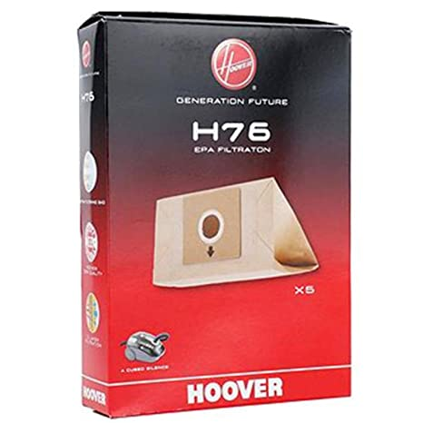 H76 recinto de 5 bolsas papel - Aspirador - Hoover: Amazon ...