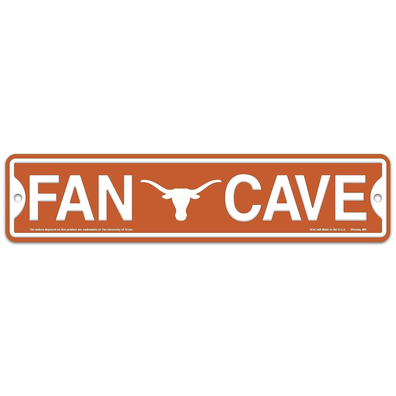 WinCraft Texas Longhorns UT Plastic Fan Cave Sign 4' x 17' Street Sign NCAA