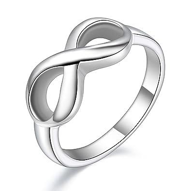 JewelryWe Joyería Infinito Anillo De Mujer, 8 El Amor ...