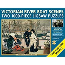 Two Jigsaws: Victorian River Boat Scenes: Two 1000-Piece Jigsaw Puzzles: 'The Thames', 1876, By James Tissot, And 'The Captain'S Daughter', 1873