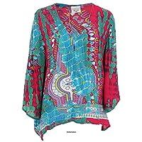 GreaterGood Tie Dye Spirit Long Sleeve Top - Turquoise - S/M