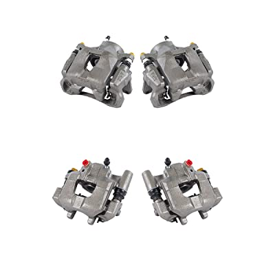 CCK11100 FRONT + REAR [4] Premium Grade Semi-Loaded OE Remanufactured Caliper Assembly Set Kit: Automotive
