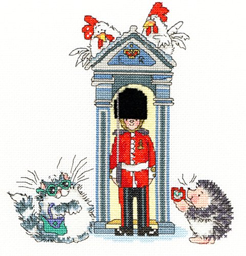 Bothy Threads London On Parade Margaret Sherry Counted Cross Stitch Kit Xms10 20x22cm (Cross Sherry Stitch Margaret)