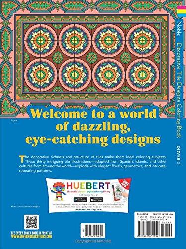 Dover Publications-Decorative Tile Designs Coloring Book (Dover Design Coloring Books)