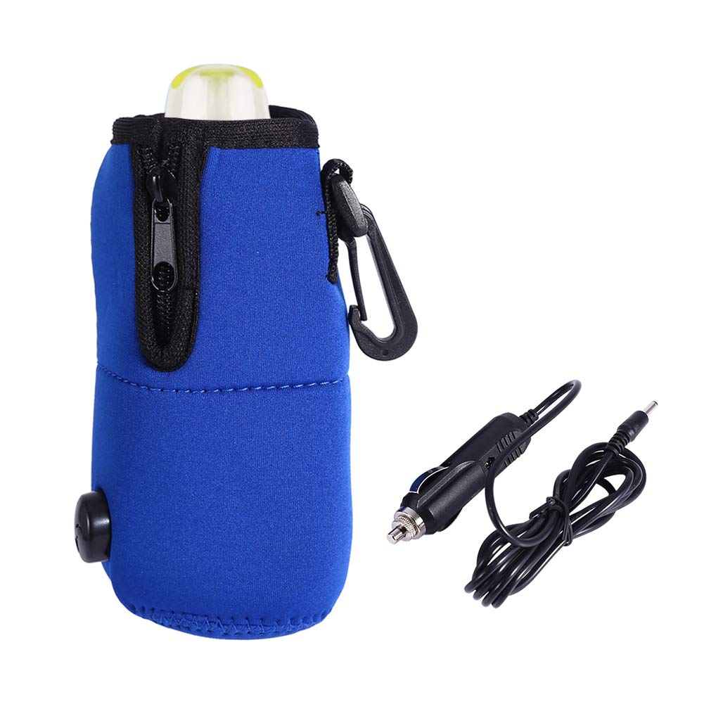 Travel Car Baby Bottle Warmer Portable Milk Warmer Bag Car Food Water Bottle Heater Warmer Keep Temperature Bag 12V Garosa