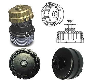 e-cowlboy llave de filtro de aceite para Toyota y Lexus 4 Matriz de cilindro Prius ...