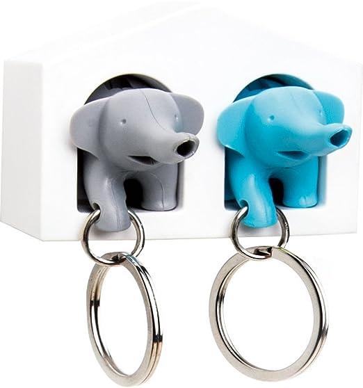 Amazon.com: Duo Silbato elefante llavero Titular: Home & Kitchen