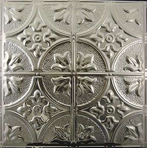 Fleur de Lis, 12' Pattern, #102, 5 pcs of Unfinished Nail-up, 2x2 Metal Tiles, Not cheap plastic!