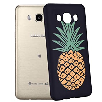 Yunbaozi Funda Compatible para Samsung Galaxy J5 2016 Carcasa Impresión Piña