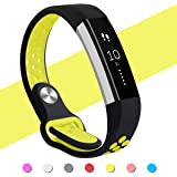 Hanlesi Fitbit Alta HR Bands , Fitbit Alta Band Breathable Soft Silicone Adjustable Fashion Sport Strap Band for Fitbit Alta 2 Replacement Fitness Accessory Wristband with hole Black