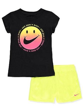 664b16722 Amazon.com: Nike Girls' 2-Piece Short Set Outfit: Clothing