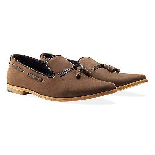 Goodwin Smith - Mocasines de Piel para Hombre Gris Gris, Color Gris, Talla 45 EU: Amazon.es: Zapatos y complementos