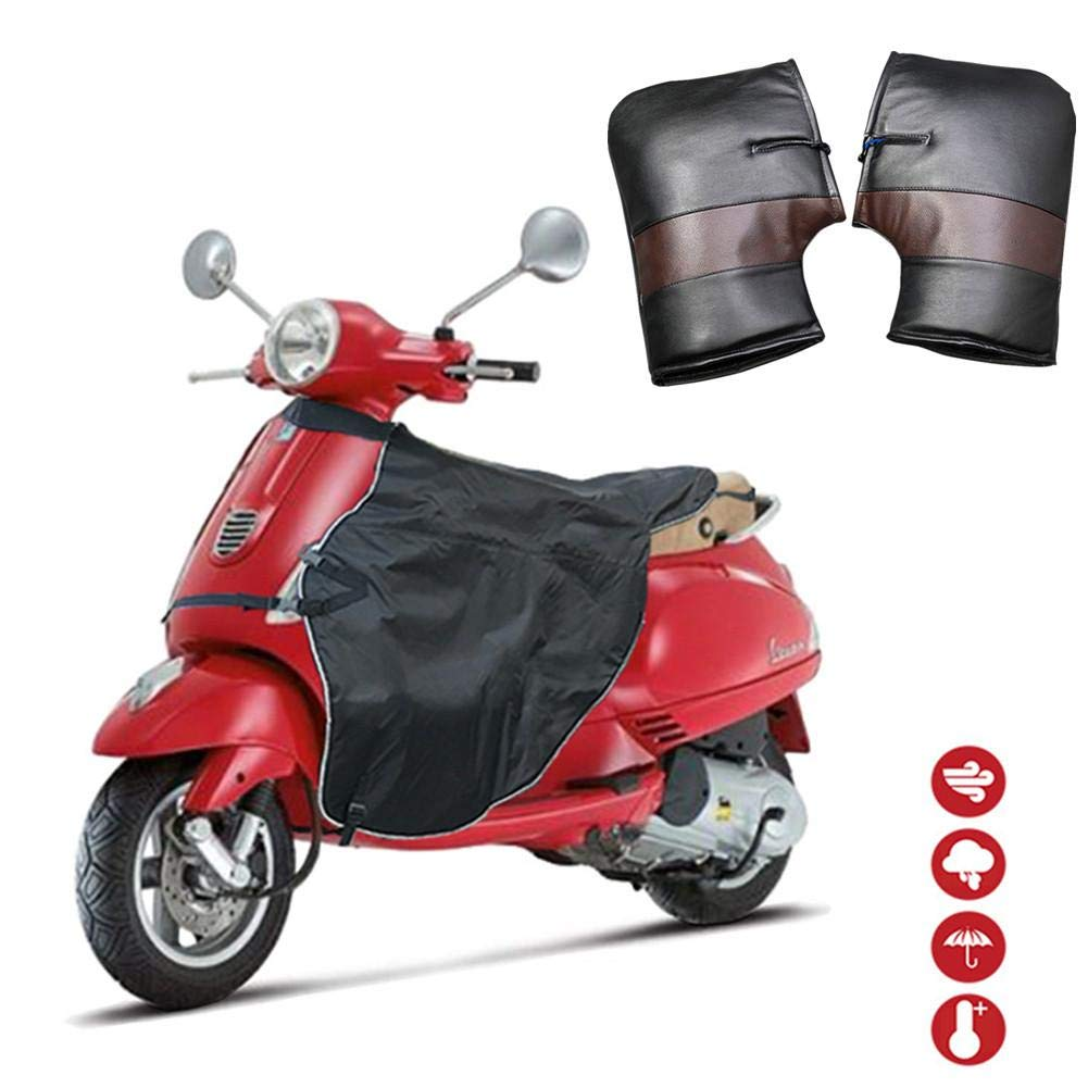 Warm Legs and Hands for Driver Leather Gloves Waterproof Windproof Yunhigh-uk Leg Apron Cover Protective with Winter Handlebar Muffs for Scooter