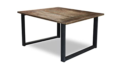 Tavolo Industriale Quadrato : Mobiliermoss tavolo da sala da pranzo quadrato industriale legno