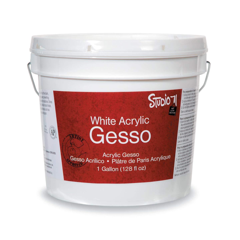 Darice Bulk Buy DIY Studio 71 Acrylic Gesso White Gallon (3-Pack 97800-114 by Darice