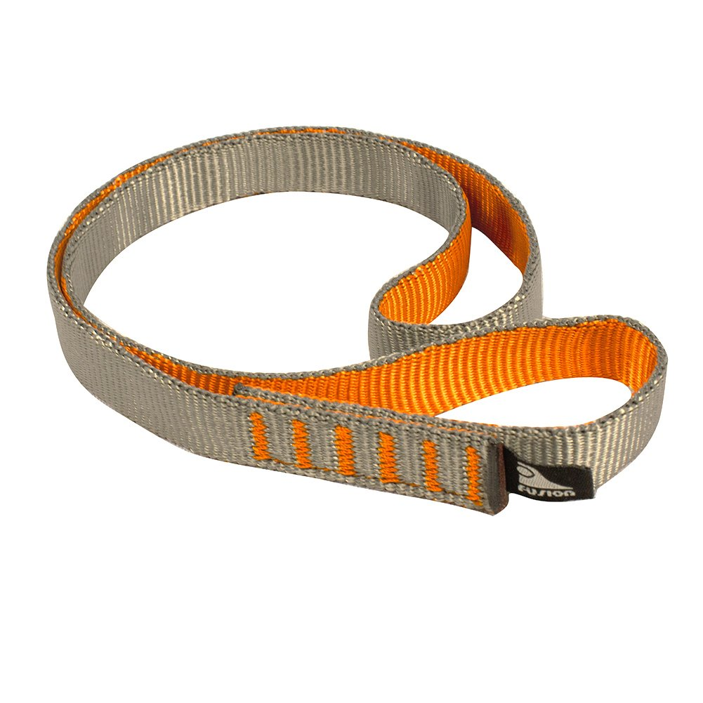 Fusion Climb Quickdraw Runner 5000 lbs Rated Stitched Loop Nylon Webbing 120cm x 1.7cm Tan/Orange