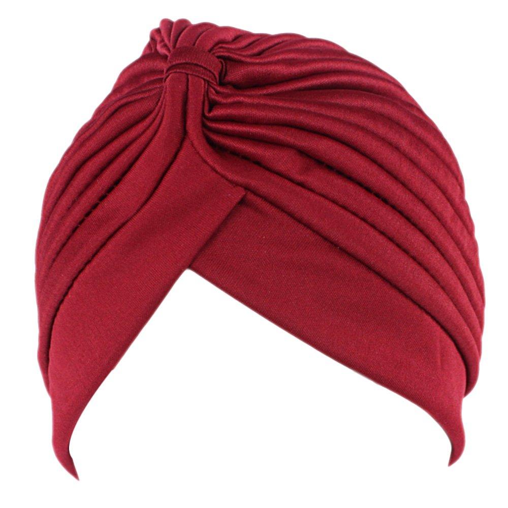 Women/'s Unisex Indian Style Stretchy Turban Hat Hair Head Wrap Cap Headwrap Hot