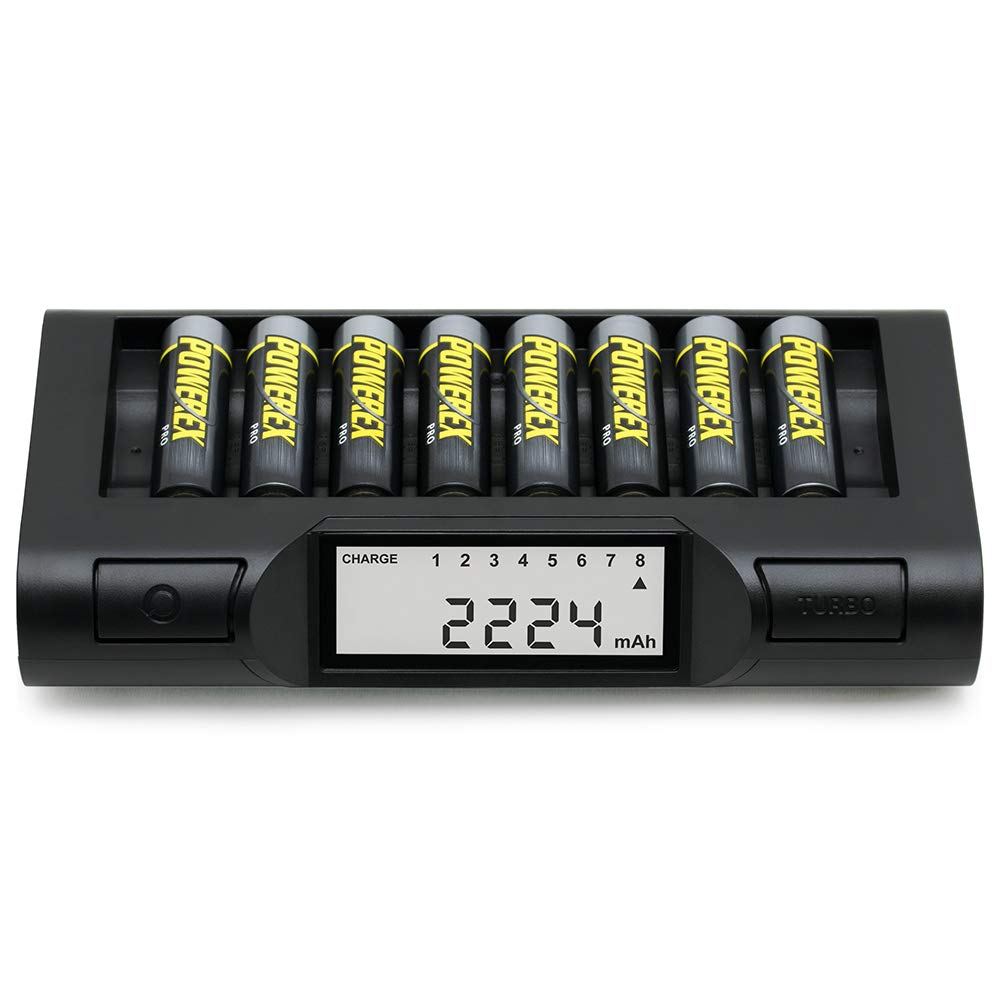 Powerex MH-C980 Turbo Charger Analyzer for AA/AAA Batteries with Powerex Pro Rechargeable AA NiMH Batteries 1.2V, 2700mAh 8-Pack and Powerex Accessory Padded Bag Travel Kit (New 2019 Model) by Powerex (Image #2)