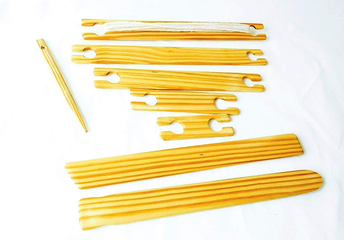 1.0'' Wide 5 Piece Weaving Stick Shuttle/flat Shuttle Kit. 4''6''8''10''12'' X 1.0 4336906232