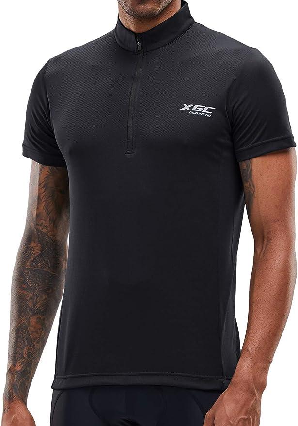 Herren Langarm Cycle Jersey Top Reflektierende MTB Cycling Bike Fahrrad Shirts