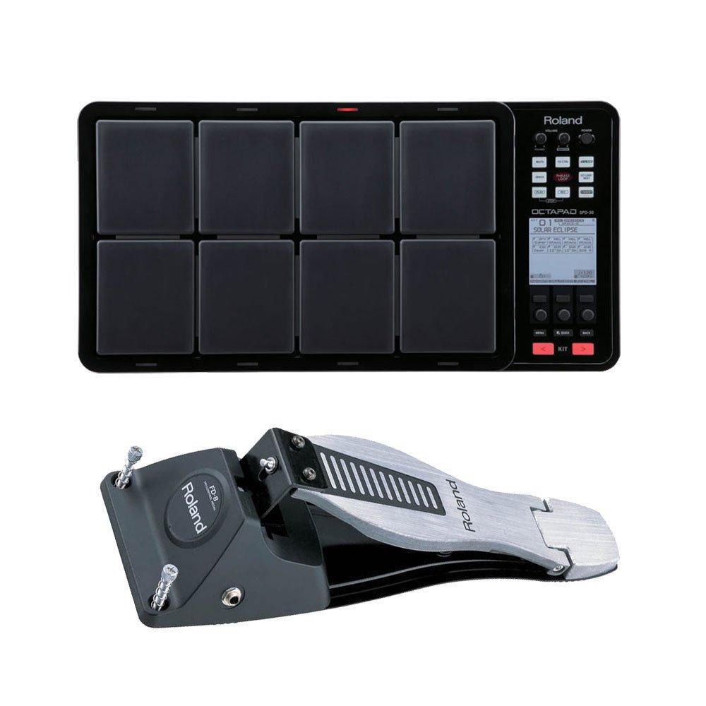 Roland OCTAPAD SPD-30 Digital Percussion Pad Black and FD-8 Hi-Hat Control Pedal Bundle