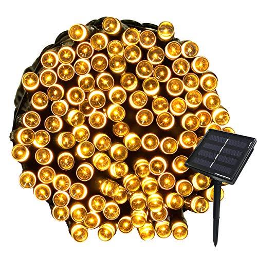 Yasolote 22M Guirnalda de Luces de Energía Solar 8 Modos Impermeable 200 LED Luces Exterior para Decorar Patio, Jardín,...