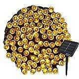 Yasolote 22M Guirnalda de Luces de Energía Solar 8 Modos Impermeable 200 LED Luces Exterior para Decorar Patio, Jardín, Terraza, Boda, Fiesta, Navidad (Blanco Calido)