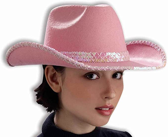 Sequin Cowboy Hat Cap Western Trilby Cowgirl Shiny Glitter Party Fancy Dress Up