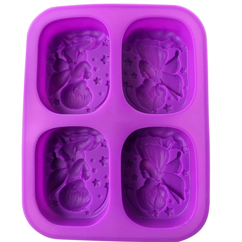 Amazon.com: 3D Mold Silicon - 4 Hole Angels Food-Grade Silicone Soap Mold Cake Angel Couple Handmade Maker Tool 3D Soap Molds DIY Crafts Mold