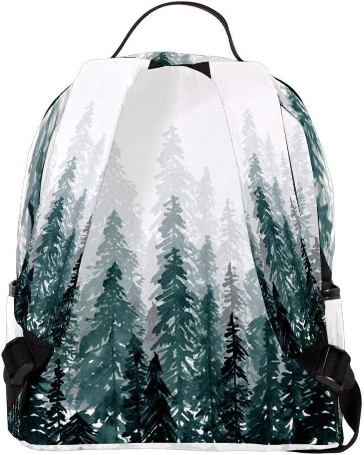 Lightweight MAPOLO Laptop Backpack Trees Pattern Casual Shoulder Daypack for Student School Bag Handbag
