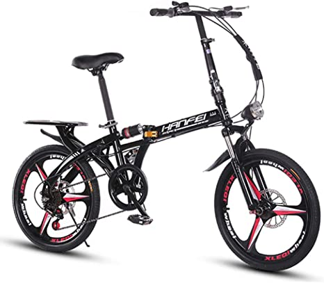 ANJING Bicicleta Plegable de 25 LB, Cuadro de Aluminio Ligero Bici ...
