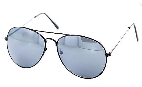 Nick&Ben - Gafas de sol (lentes negras con efecto espejo ...