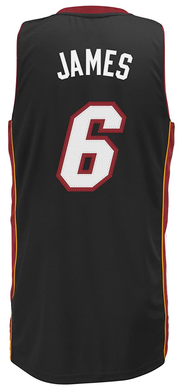 Adidas Miami Heat de la NBA Lebron James Swingman - Camiseta, Color Negro: Amazon.es: Ropa y accesorios