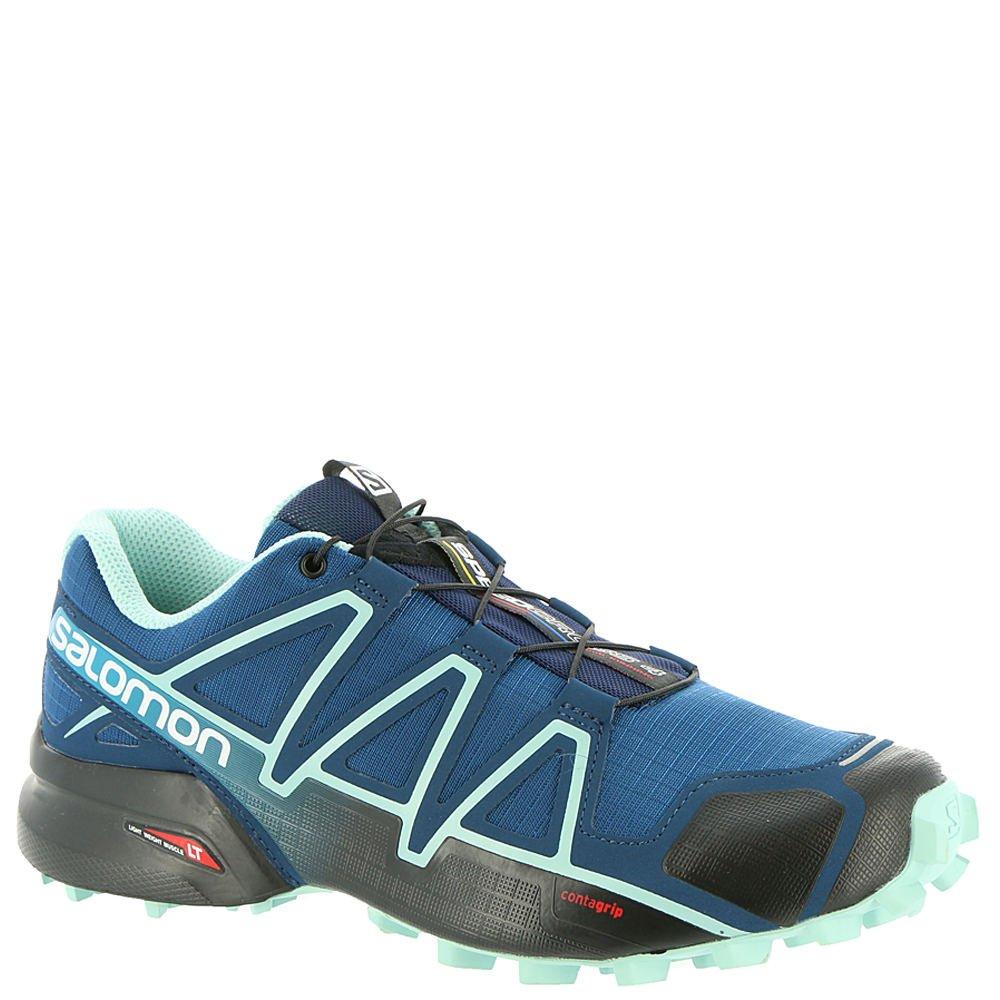 Salomon Women's Speedcross 4 W Trail Runner B0798WGVMB 7 W US|Poseidon/Eggshell Blue/Black