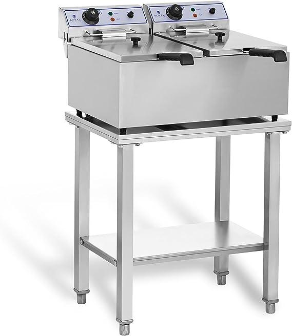 Royal Catering RCEF-SET2 Set Freidora Electrica Profesional Doble ...