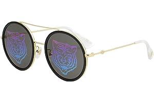 3a426b8de Amazon.com: Gucci GG 0106 S- GG0106S Sunglasses 56mm: Clothing