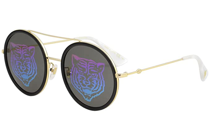 e0aed4b6ab Amazon.com  Sunglasses Gucci GG 0061 S- 014 GOLD GREEN  Clothing