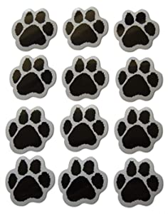 Novel Merk Animal Paw Print Small Refrigerator Magnets Set for Kids Party Favors & School Carnival Prizes Miniature Design (12 Pieces)