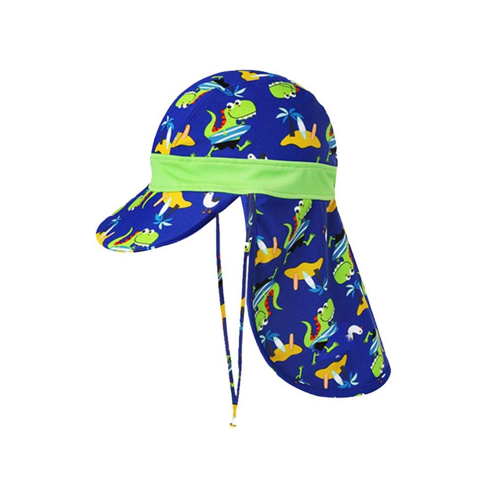 ACTLATI Baby Kids Boys Girls Neck Flap Hat UPF 50+ UV Ray Sun Protection Cap with Chin Strap Adjustable