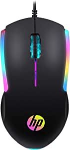 HP Wired RGB Gaming Mouse High Performance Mouse with Optical Sensor, 3 Buttons, 7 Color LED for Computer Notebook Laptop Office PC Home