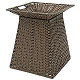 Expressly HUBERT Round Dark Brown Plastic Floor Display Basket - 17 3/4''L x 19 3/4''H