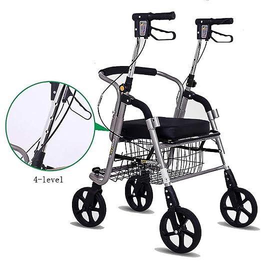 YAN-Walker Andador para Ancianos De 4 Ruedas   Aluminio ...