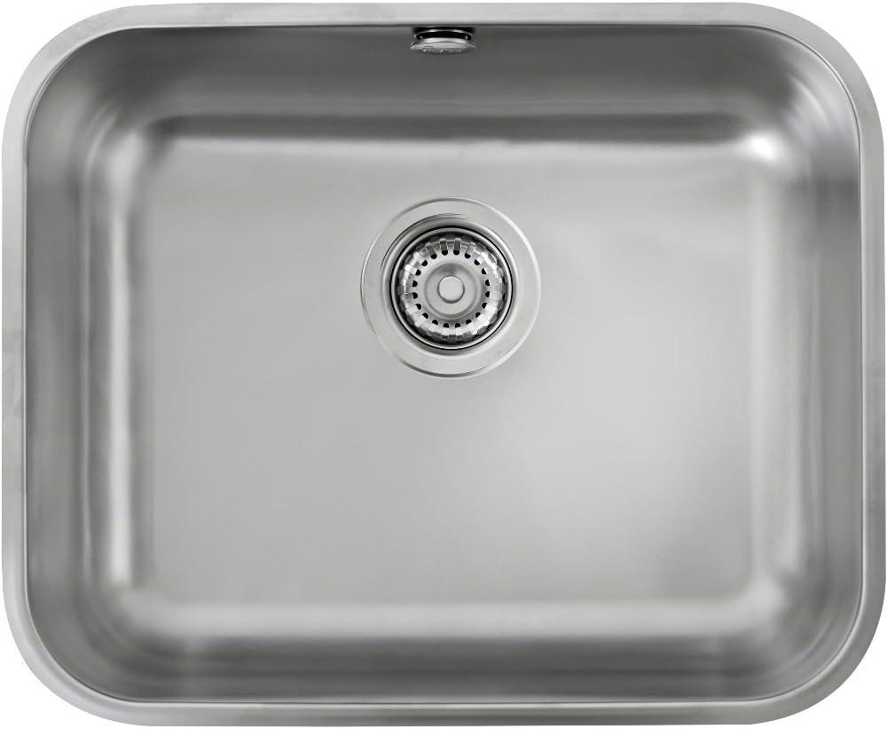 fregadero de cocina teka be 50.40 plus bajo encimera de acero inoxidable