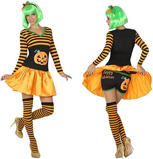 LEMON TREE SL Disfraz para Halloween de Mujer Calabaza Naranja ...